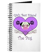 Pug Gift Journal (violet)