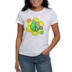 Peace Blossoms / Green Women's T-Shirt