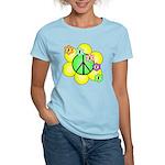 Peace Blossoms / Green Women's Light T-Shirt