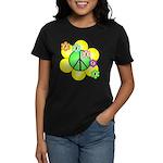 Peace Blossoms / Green Women's Dark T-Shirt