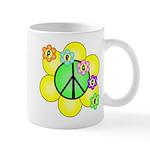 Peace Blossoms / Green Mug