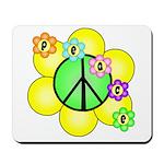 Peace Blossoms / Green Mousepad