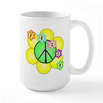 Peace Blossoms / Green Large Mug