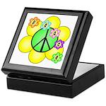 Peace Blossoms / Green Keepsake Box