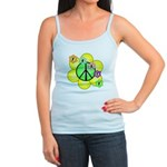 Peace Blossoms / Green Jr. Spaghetti Tank