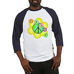 Peace Blossoms / Green Baseball Jersey
