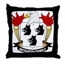 McQueen Family Crest Throw Pillow
