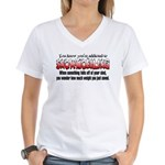 YKYATS - Parts Fall Off Women's V-Neck T-Shirt