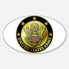 Army Black Logo Oval Decal