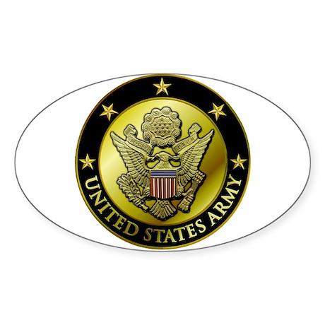 Army Black Logo Oval Sticker