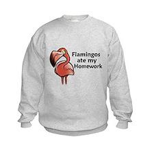 Flamingos ate my homework Sweatshirt