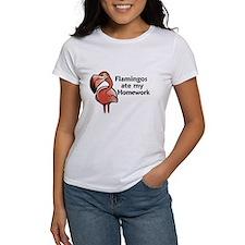 Flamingos ate my homework Tee