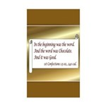 Chocolate Lovers Rectangle Sticker 10 pk)