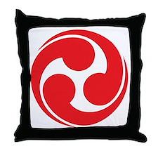 Shinto Tomoe [Cosmos] Throw Pillow