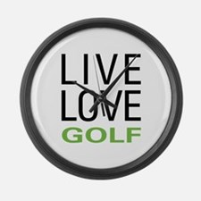 Live Love Golf Large Wall Clock
