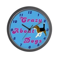 Crazy About Dogs Wall Clock