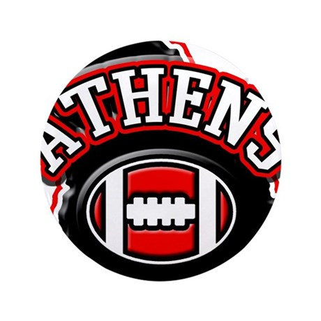 "Athens Football 3.5"" Button"