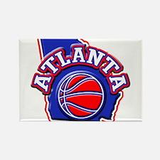 Atlanta Basketball Rectangle Magnet