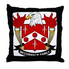 McCormack Family Crest Throw Pillow