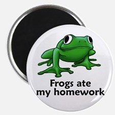 Frogs ate my homework Magnet
