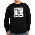 Will Knit for Beer Sweatshirt (dark)