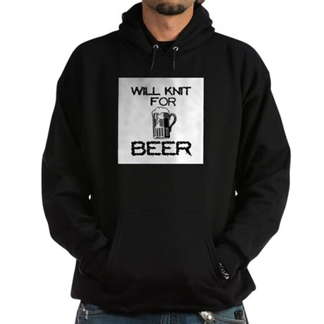 Will Knit for Beer Hoodie (dark)
