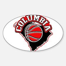 Columbia Basketball Oval Decal