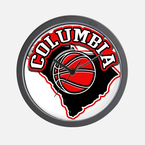 Columbia Basketball Wall Clock