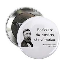 "Henry David Thoreau 35 2.25"" Button"