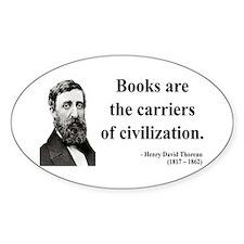 Henry David Thoreau 35 Oval Decal