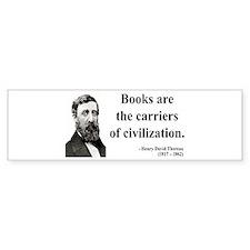 Henry David Thoreau 35 Bumper Car Sticker