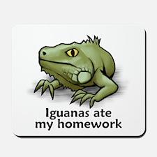 Iguanas ate my homework Mousepad