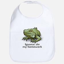 Iguanas ate my homework Bib