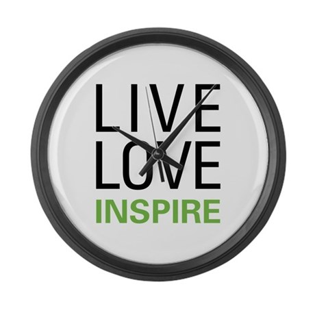 Live Love Inspire Large Wall Clock