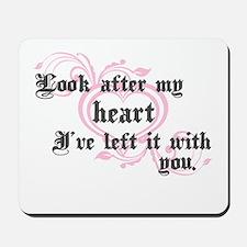 Edward Heart Twilight Mousepad