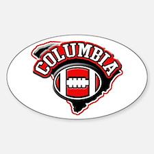 Columbia Football Oval Decal