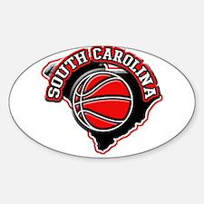 South Carolina Basketball Oval Decal