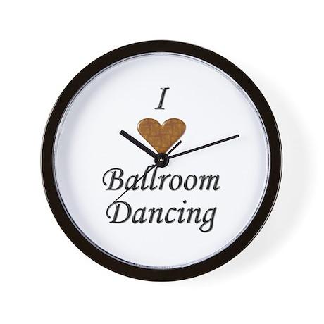 I Love Ballroom Dancing Wall Clock