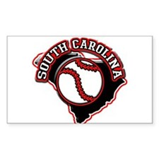 South Carolina Baseball Rectangle Decal