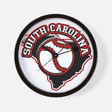 South Carolina Baseball Wall Clock