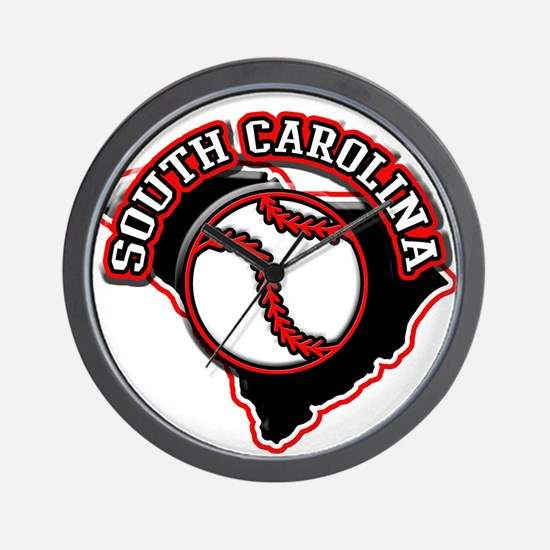 South Carolina Baseball Wall Clock