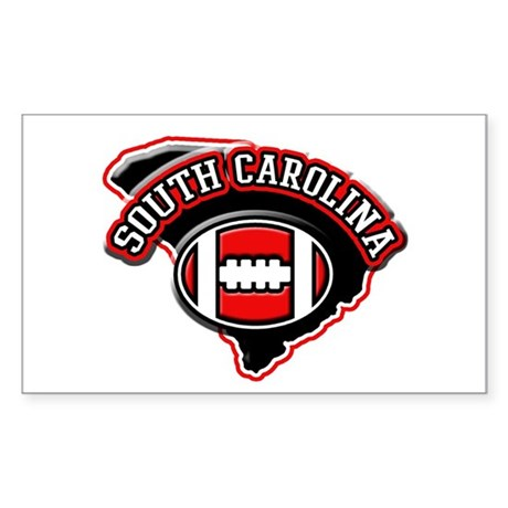 South Carolina Football Rectangle Sticker
