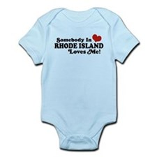 Somebody in Rhode Island Loves me Infant Bodysuit
