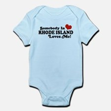 Somebody in Rhode Island Loves me Infant Bodysuit