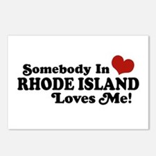 Somebody in Rhode Island Loves me Postcards (Packa