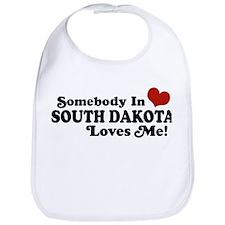Somebody in South Dakota Loves me Bib