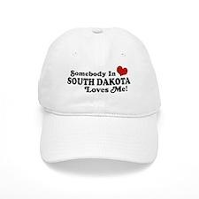 Somebody in South Dakota Loves me Baseball Cap