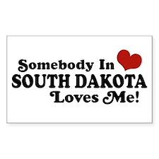 Somebody in South Dakota Loves me Decal