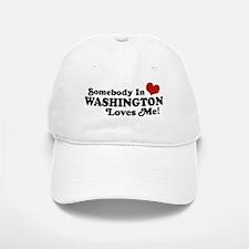 Somebody in Washington Loves me Baseball Baseball Cap