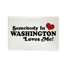 Somebody in Washington Loves me Rectangle Magnet